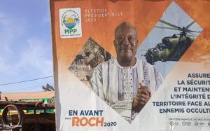 An MPP campaign poster showing a message about security during the 2020 electoral campaign in Ouagadougou.