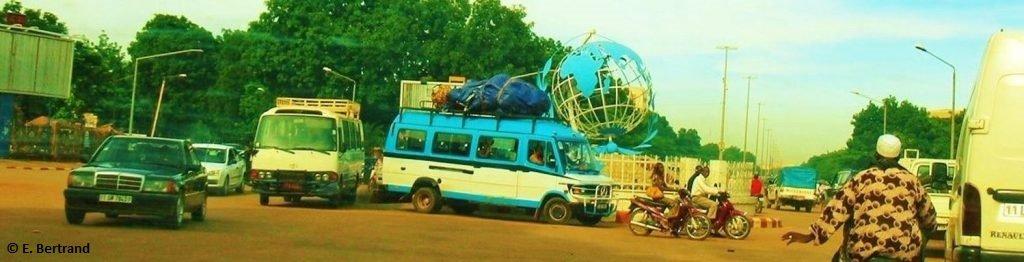 Header image: the UN roundabout in Ouagadougou, Burkina Faso